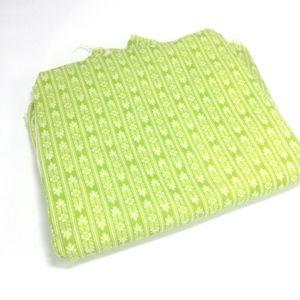 Light Green Pinstripe Floral Pattern Cotton Fabric